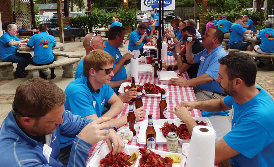 PM Rep of the year AHDeveney crawfish boil