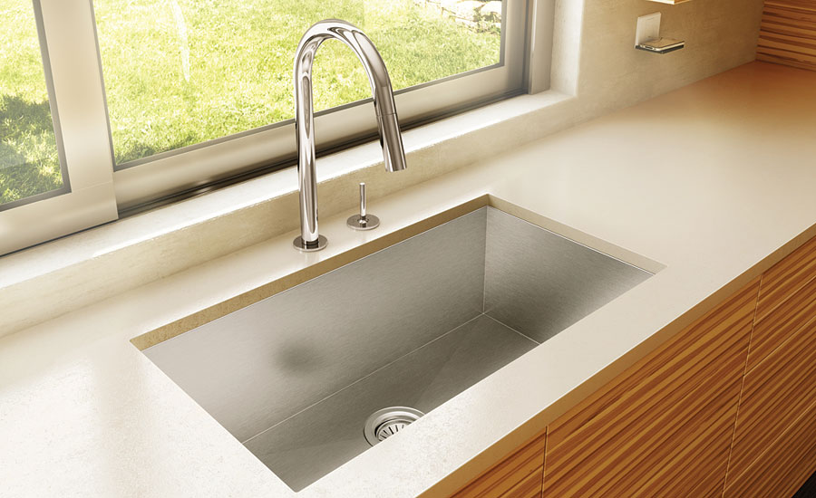Aquabrass square-designed kitchen sinks
