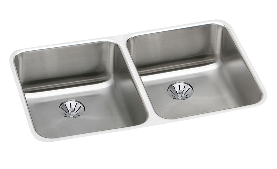 Elkay double-bowl under-mount kitchen sink