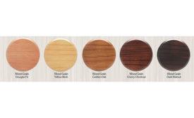 Senju wood grain fire sprinkler cover plates