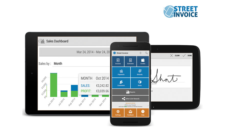 Street Invoice mobile invoicing