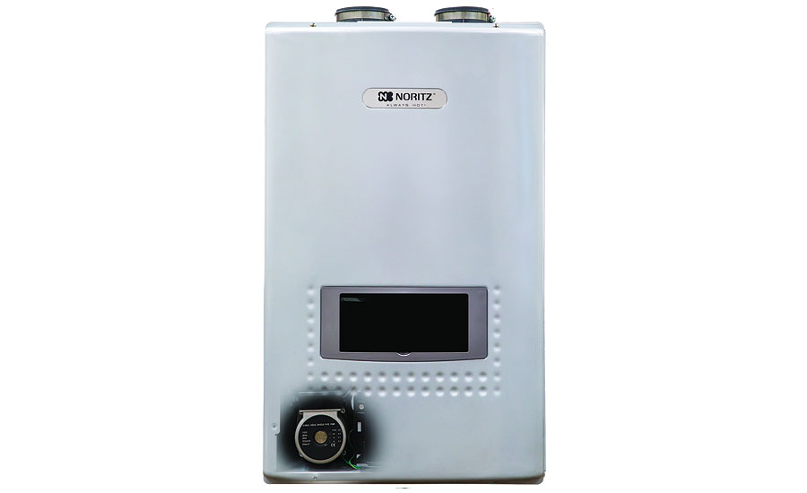 Noritz condensing tankless water heaters; hydronic products, plumbing products, tools, green heating