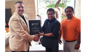 Accepting the award on behalf of the company was Tucson Winsupply President Tony Victorino.