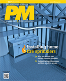 PM May 2016 cover: Installing Home Fire Sprinklers