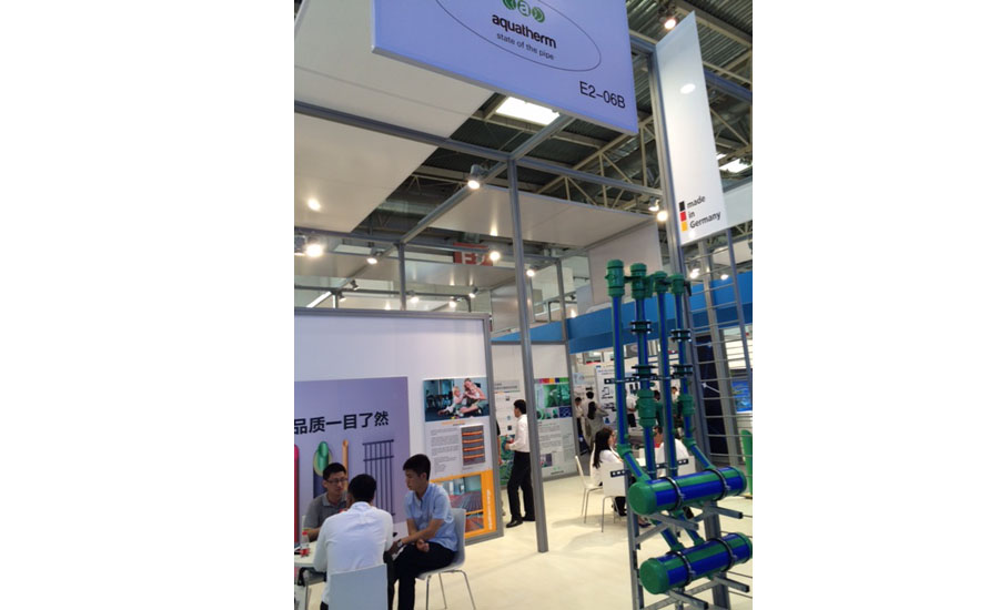 Aquatherm displays its piping systems at ISH China/CIHE in Beijing.