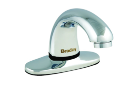 Bradley's Aerada 1200 Series lead-free faucet utilizes capacitive sensing technology.