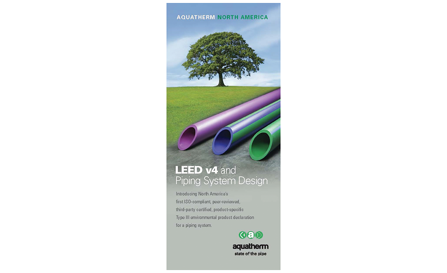 "Aquatherm brochure ""LEED v4 and Piping System Design"""