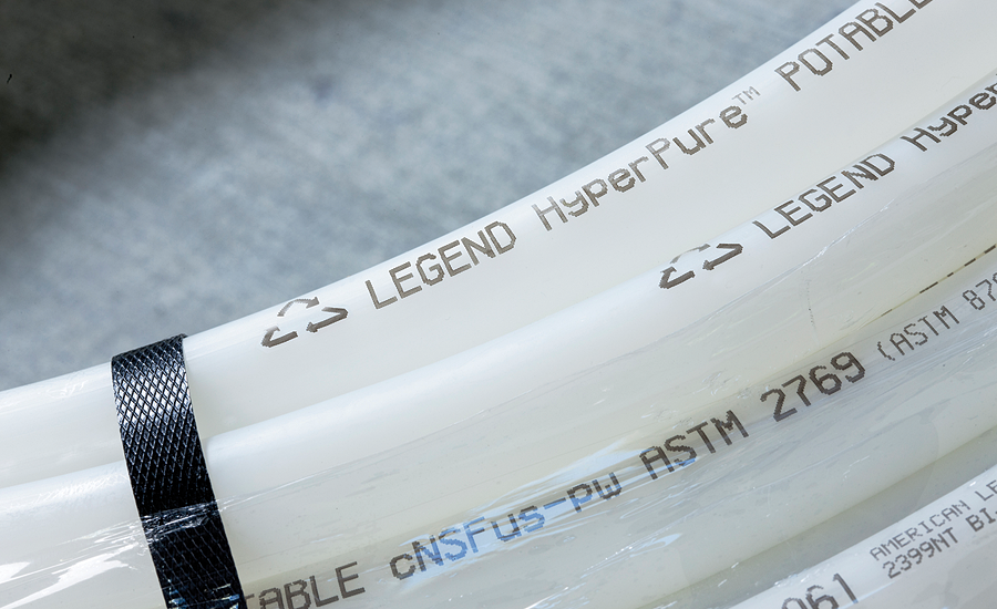 Legend HyperPure polyethylene raised temperature tubing