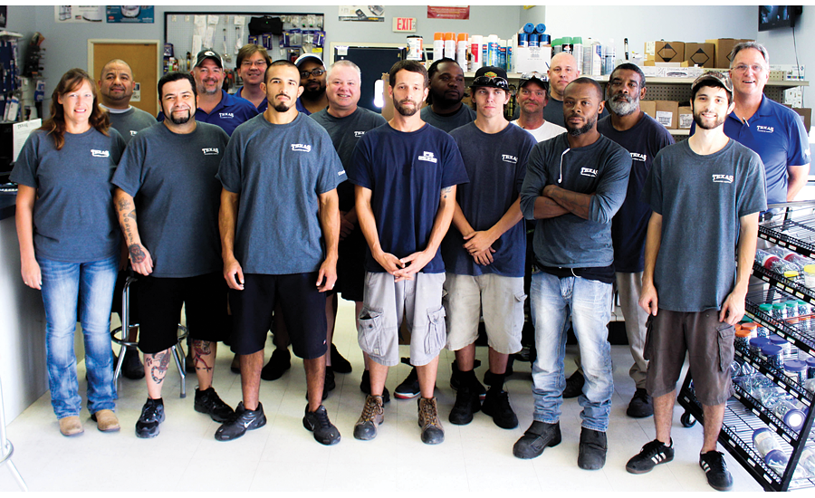 Texas Plumbing Supply currently has 75 team members in four Texas locations