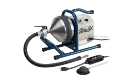 Countertop drain-cleaning machine