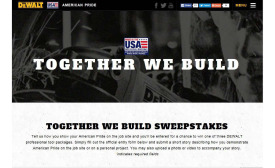 DeWalt asks contractors and construction professionals to show their American pride for nationwide sweepstakes.