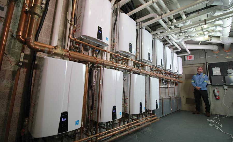 KMB Plumbing & Electrical installed 11 Navien NPE-240A units at Golden Living
