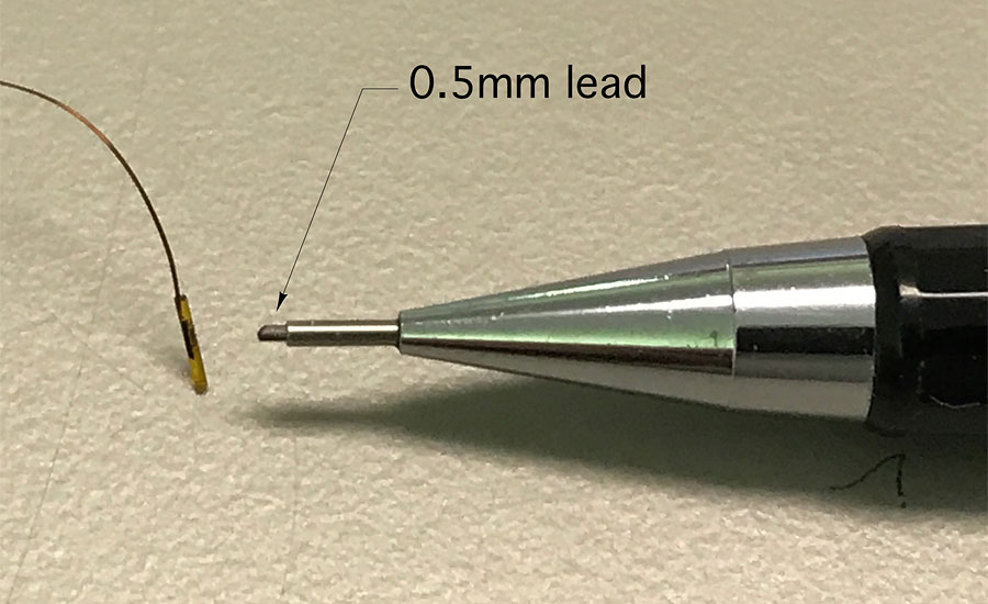Figure 2 shows just how small some thermistor beads are