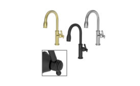 Newport Brass Taft and Chesterfield kitchen faucets