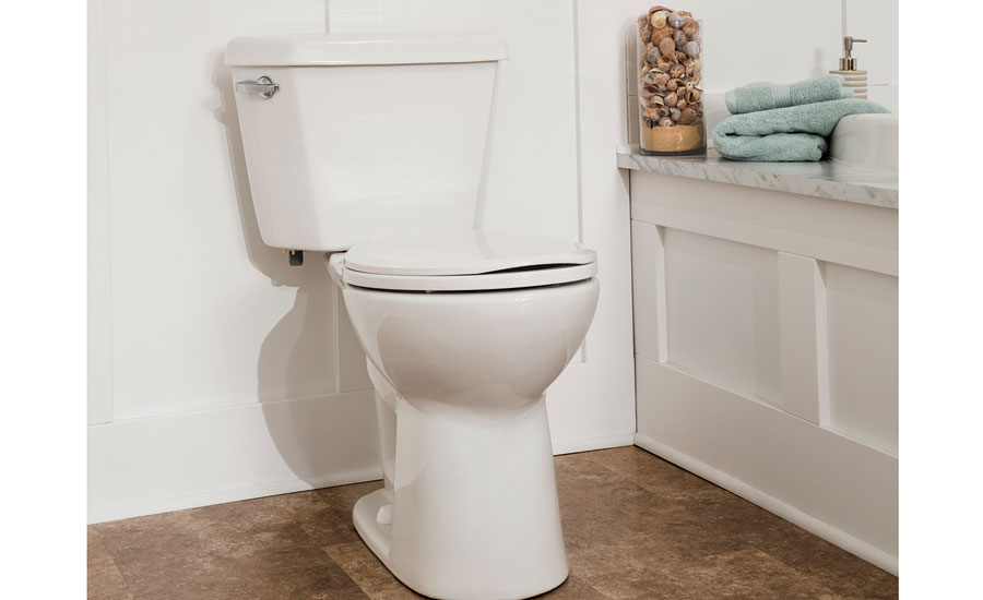 The DENALI Power Flush toilet from Mansfield Plumbing features a flushing performance