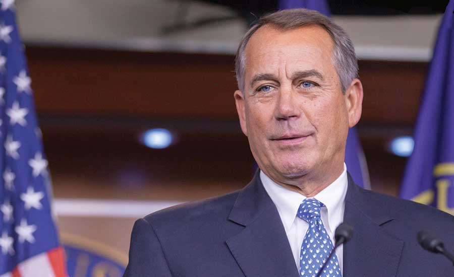 Former Speaker of the House John Boehner