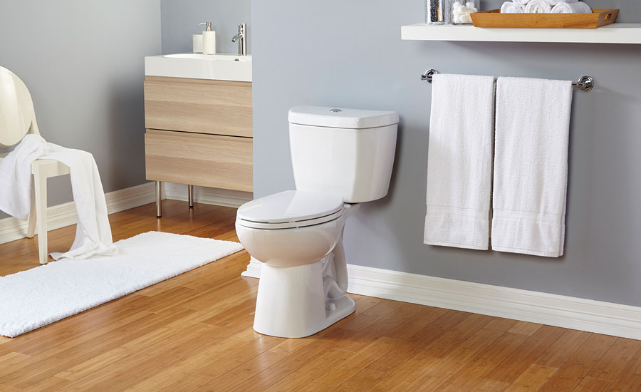 The Original Stealth Toilet from Niagara flushes using 0.8 gpf
