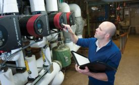 ECM circulators find the lowest possible operating-efficiency point