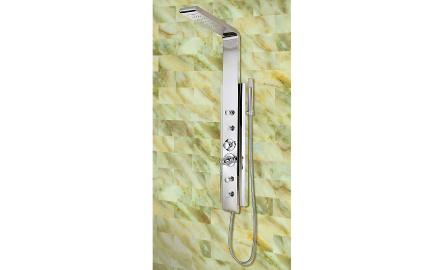 Lenova thermostatic shower panel (KBIS/IBS Preview)