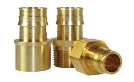 Uponor ProPEX brass transition fittings (KBIS/IBS Preview)