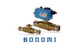 Bonomi lead-free automated brass shut-off ball valve