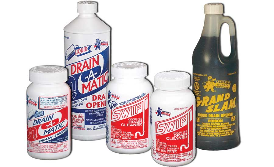 Utility Chemicals drain cleaners and openers