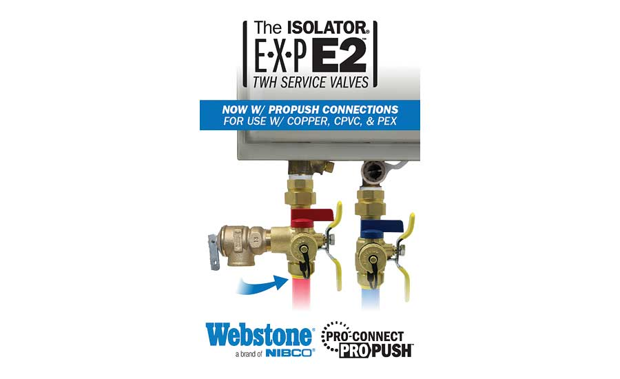 Webstone patented Isolator E-X-P service valve kits