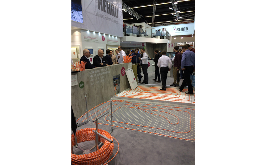 REHAU shows how to install PEX tubing easily March 15 at its booth at ISH.