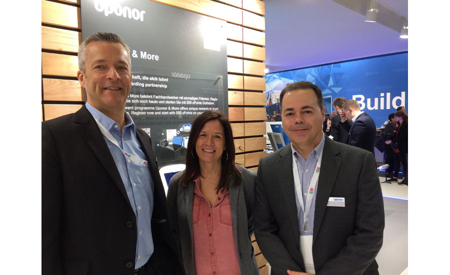 Uponor's Bill Gray, Dena Mayne and Fernando Fernandez