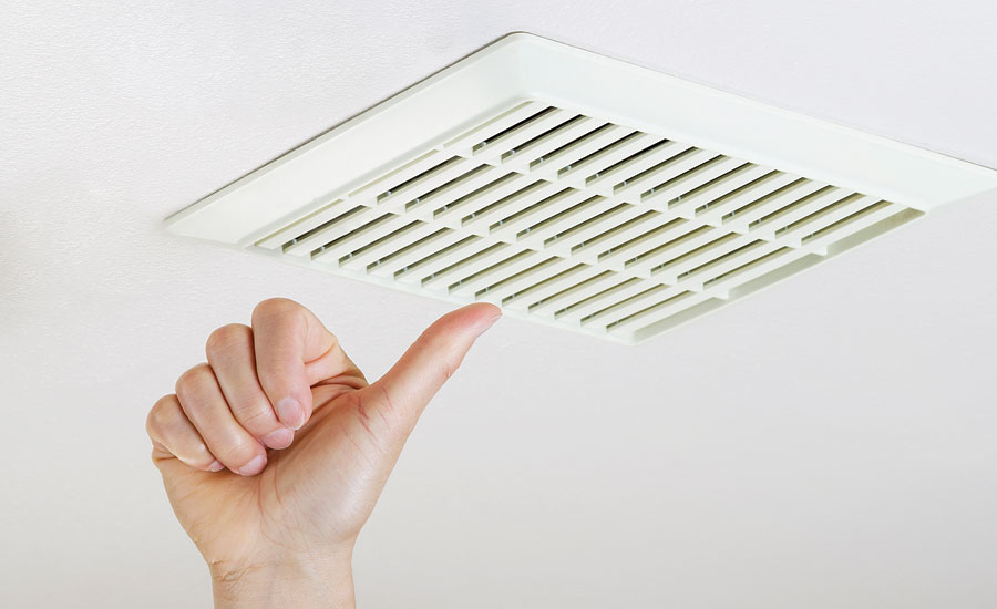 Ventilate to control bathroom humidity and odors