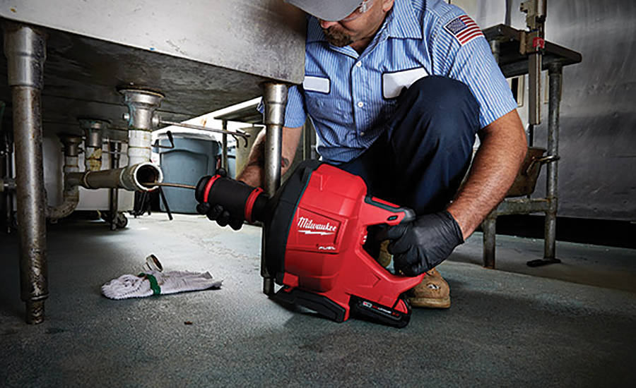 Milwaukee Tools' M12 Airsnake allows users to clear clogged drains while leaving fixtures and drain covers intact