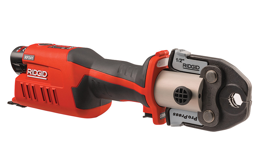 Ridgid's RP 241 Pressing Tool is 25% smaller and 10% lighter than its predecessor