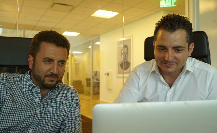 ServiceTitan founders Vahe Kuzoyan (left) and Ara Mahdessian are both sons of tradesmen