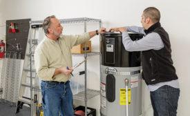 Voltex hybrid electric heat pump water heater