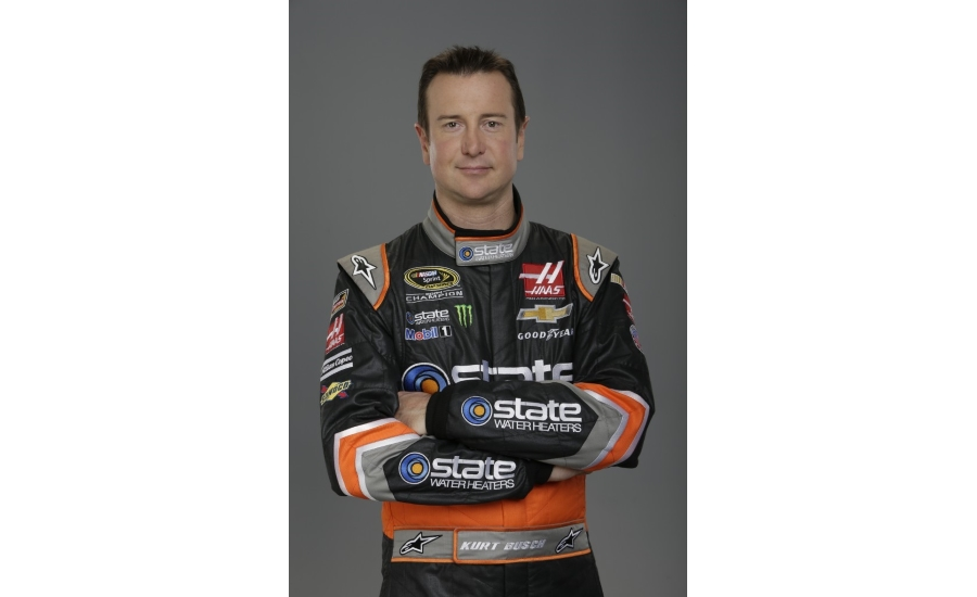 State Water Heaters Back with Daytona 500 Winner Kurt Busch, Stewart-Haas Racing in 2018