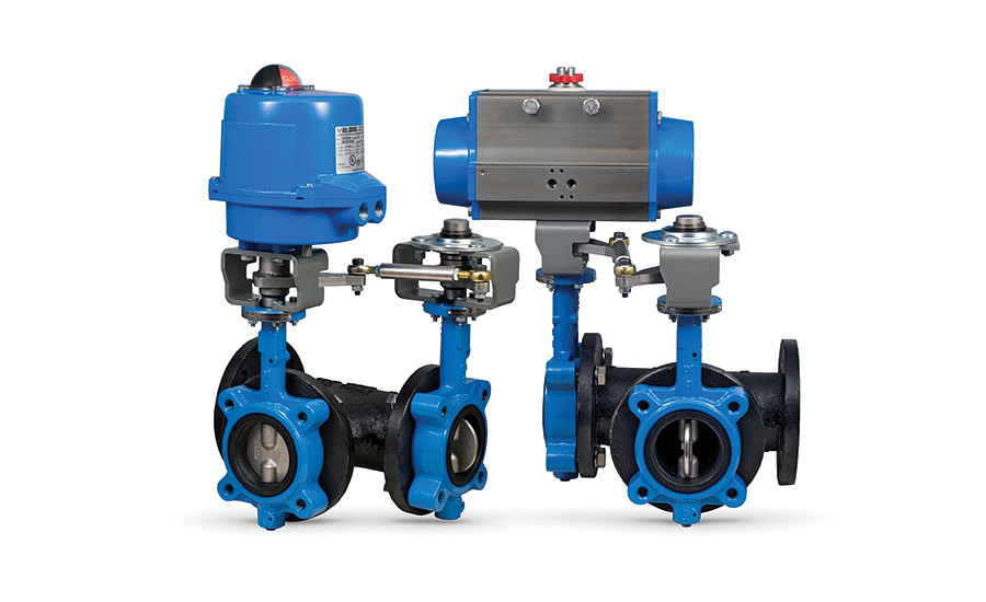 Bonomi North America three-way automated butterfly valve tee assemblies