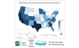 Water Efficiency and Conservation State Scorecard Grades (2017)