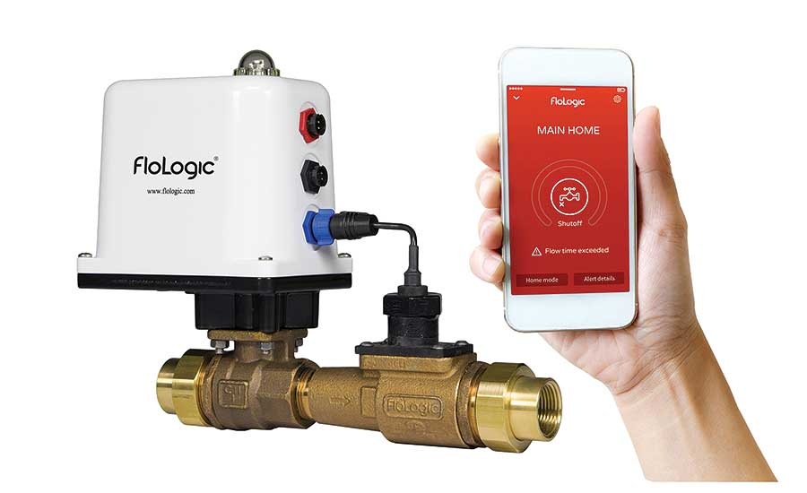 The FloLogic Leak Control System detects and automatically stops abnormal water flow