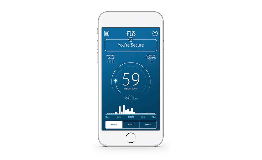 Flo Technologies' mobile app provides real-time water usage