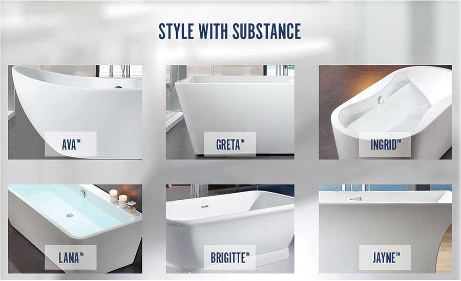 Mansfield Whitley freestanding tubs