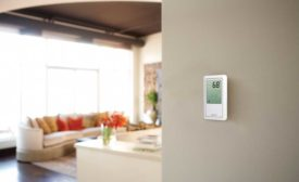 Uponor touchscreen radiant thermostat