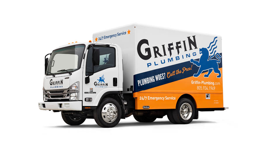"Griffin Plumbing's fleet includes the P/2000 125 Isuzu Box Truck 12'6"" Model"
