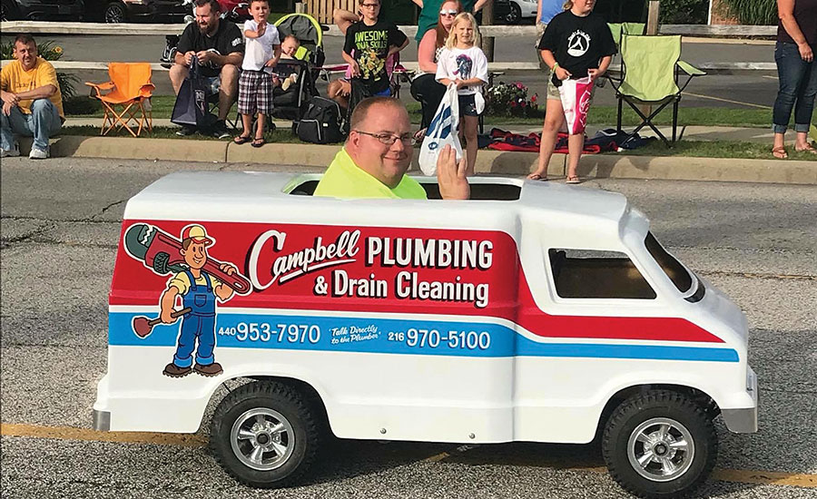 Campbell's trucks are custom-built by Mike Rus