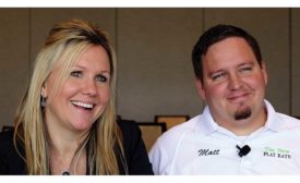 Danielle Putnam, president of The New Flat Rate, and Matt Koop, vice president of The New Flat Rate