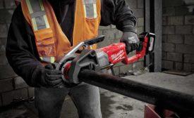Milwaukee Tool cordless pipe threader (AHR Expo)