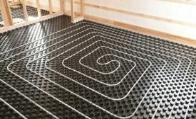 Radiant heating mat from Uponor