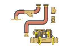 Boiler piping kit from Webstone