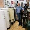 Larry Weingarten's antique water heater collection