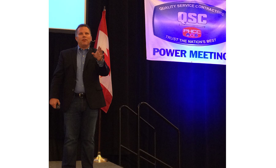 PM columnist Kenny Chapman speaks at the QSC Power Meeting