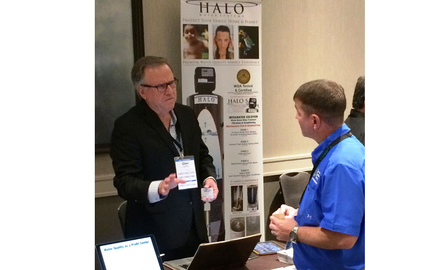 Glen Bavet (left), CEO and president of Halo Water Systems